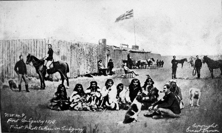 Fort Calgary 1878