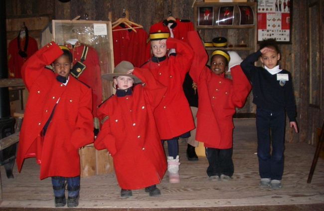 Kids in RCMP uniform
