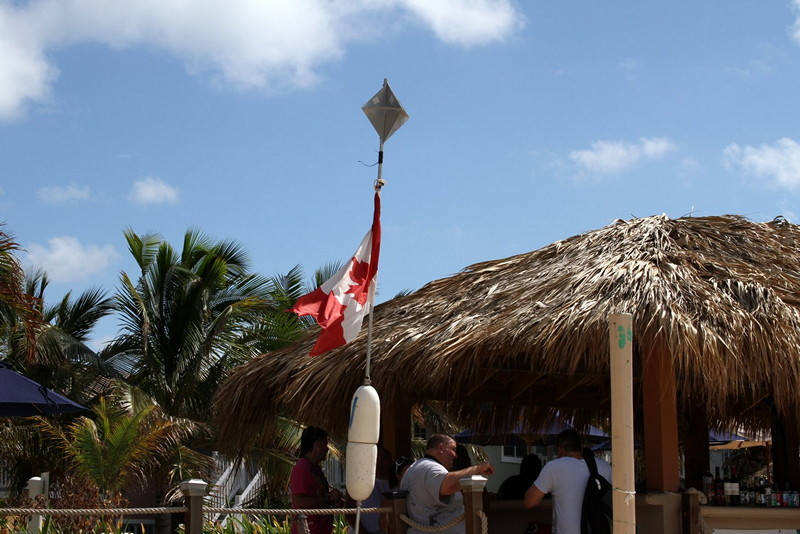 Canadian flag in Grand Turk