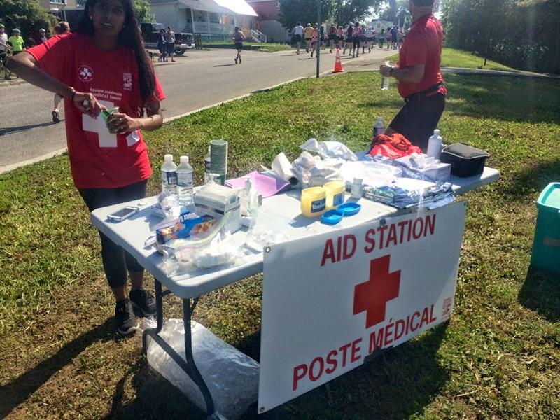 Marathon first aid station