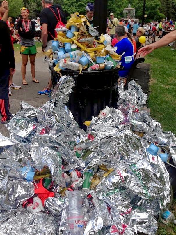 Marathon garbage