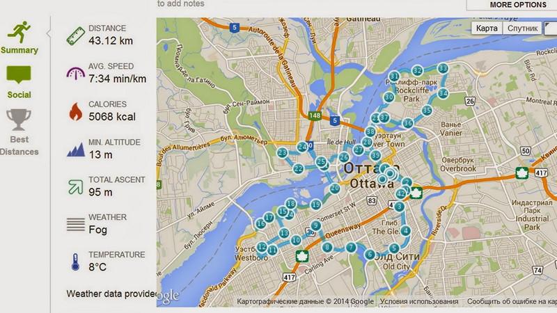 Ottawa marathon map