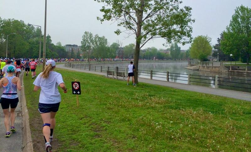 Marathon near waterbody