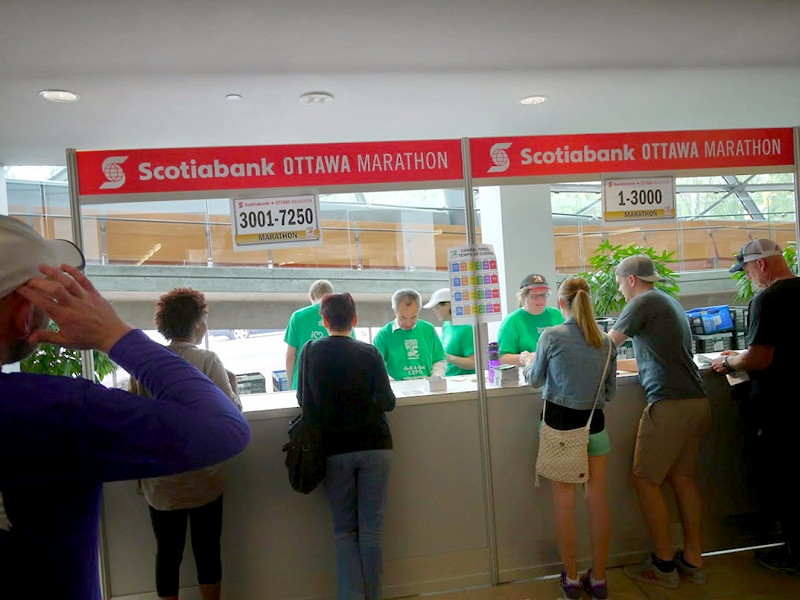 Marathon registration counter