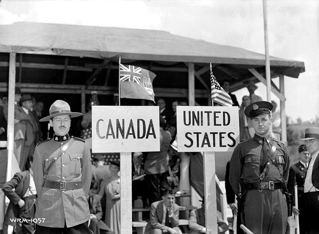 Canadian and American officers
