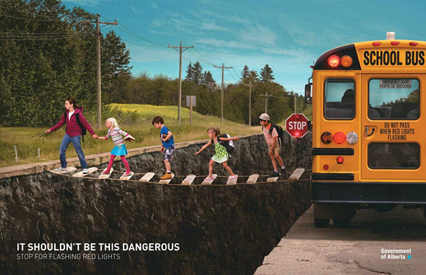 School bus ad